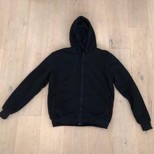 Black zip up fleece hoodie